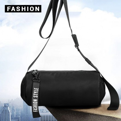 Man Nylon Stylish Barrel Design Cool Sling Bag Men Beg MC599 LA1