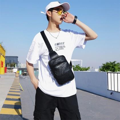 Man Leather Chest Pouch Bag Classic Crossbody Beg Lelaki Design MC602 RB2