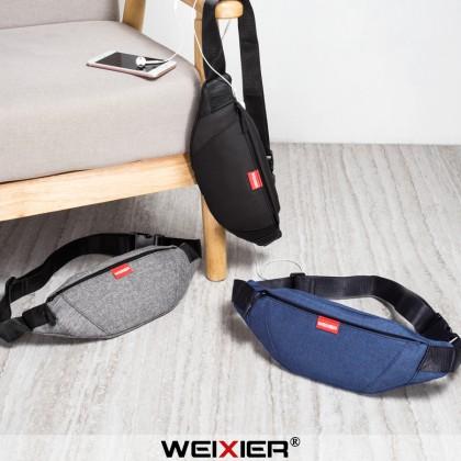 MC623 [Weixier] Man Canvas Chest Pouch/Waist Pouch Stylish Shoulder Sling Bag