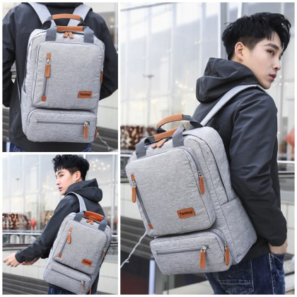 MC628 Man Canvas 15.6 Inch Laptop Compartment Quality Casual Large Capacity Backpack