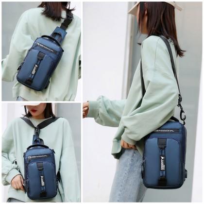 MC633 Man Nylon Stylish Design Sling Backpack Fashion Cool Sling Beg Lelaki