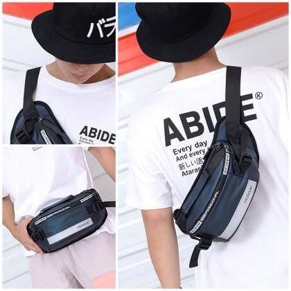 MC634 Man Nylon Chest Pouch/Waist Pouch Bag Stylish Design Fanny Beg Lelaki