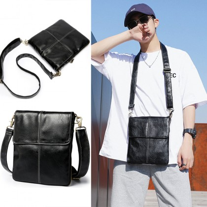 MC637 Man Leather Crossbody Bag Stylish Design Cool Sling Beg Lelaki