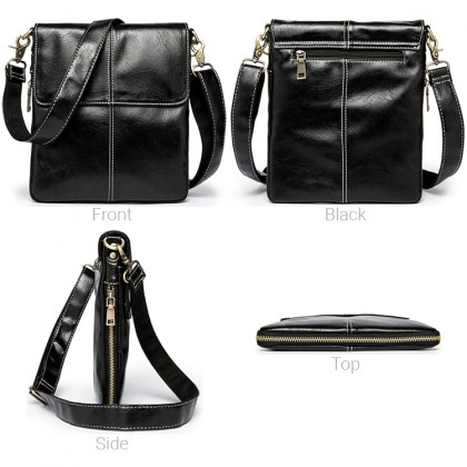 MC637 Man Leather Crossbody Bag Stylish Design Cool Sling Beg Lelaki
