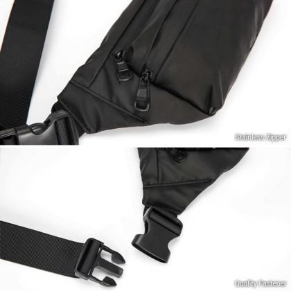 MC639 Man Nylon Waist Pouch Fashion Stylish Design Fanny Pack Beg Lelaki