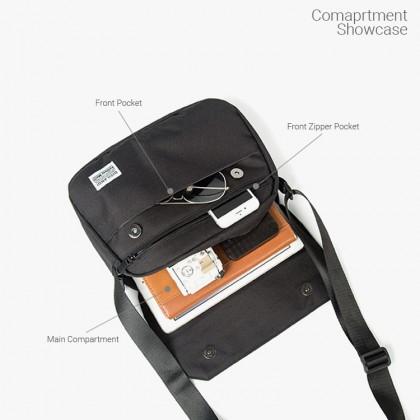 MC641 Man Canvas Crossbody Bag Fashion Sling Design Messenger Beg Lelaki
