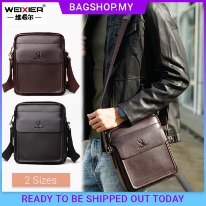 MC646 TK [Weixier] Man Classic Leather Crossbody Bag Large / Small Stylish Messenger Beg Lelaki