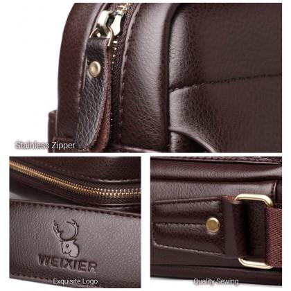 MC646 LD3 [Weixier] Man Classic Leather Crossbody Bag Large / Small Stylish Messenger Beg Lelaki