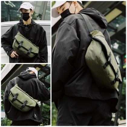 MC665 RH9 Man Canvas Sling Bag Large Capacity Fashion Messenger Beg Lelaki