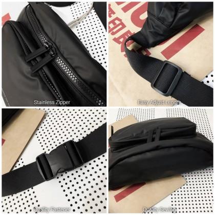 MC668 RF3 Man Nylon Cool Fanny Pack Stylish Design Large Capacity Beg Lelaki