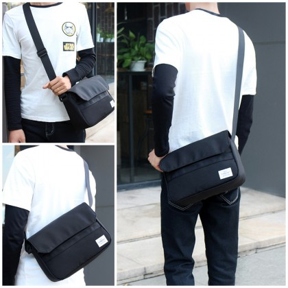 MC650 RF3 Man Canvas New Fashion Sling Bag Travel Casual Shoulder Crossbody Bag Men