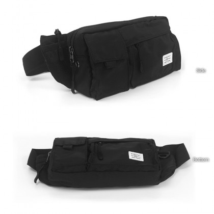 MC652 RG3 Man Nylon Adjustable Strap Fanny Pack for Outdoors Travel Waist Pouch Bag