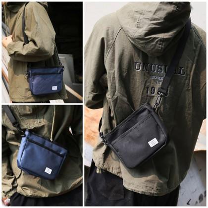MC657 RG3 Unisex Canvas Crossbody Shoulder Bag Plain Design Stylish Sling Bag