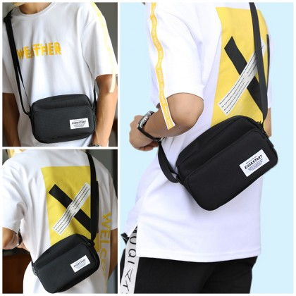 MC659 RH8 Man Canvas Fashion Shoulder Mini Bag Stylish Crossbody Sling Bag