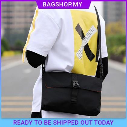 MC661 RH8 Man Canvas Crossbody Bag Travel Messenger Casual Shoulder Sling Bag