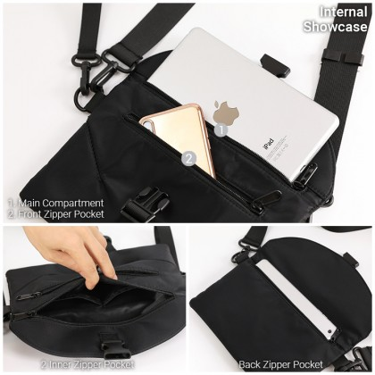MC663 RH9 Unisex Nylon Cool Clutch Sling Bag Casual Stylish Crossbody Shoulder Bag