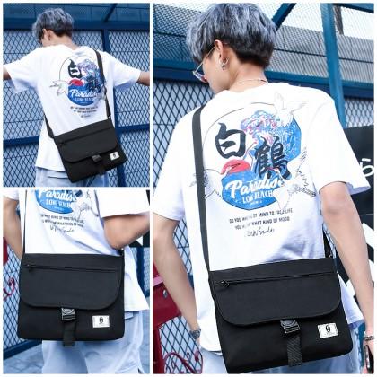 MC671 Unisex Canvas Cool Crossbody Shoulder Bag Large Capacity Stylish Messenger Beg
