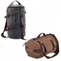 1028 - Korean Stylish Plain Color Design Duffel Bag / Large Cool Travel Backpack YM1