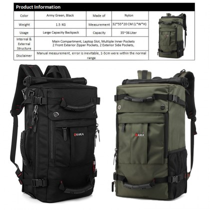 KAKA Authentic Travel Hiking Camping Adventure Outdoor Durable Backpack 2050
