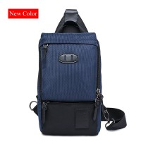99006- Quality Nylon Front Large Sling Bag / Man's Long Shape Chest Bag RC3