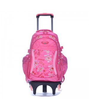 Blossom Floral 6 Wheels Trolley Backpack A18 - F2