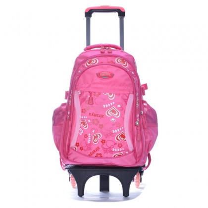 Blossom Floral 6 Wheels Trolley Backpack A18 - RA3