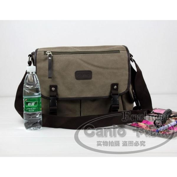7ce101bd0c05 ... K2031 - Man s Durable Canvas Sling Bag Heavy Duty Multiple Pockets Cross -body Messenger Bag
