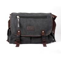 K2031 - Man's Durable Canvas Sling Bag Heavy Duty Multiple Pockets Cross-body Messenger Bag YN1
