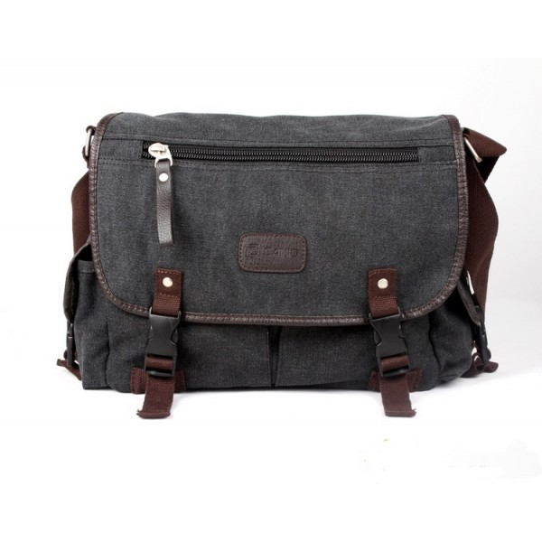 c048f8e07064 K2031 - Man s Durable Canvas Sling Bag Heavy Duty Multiple Pockets Cross-body  Messenger Bag RG6