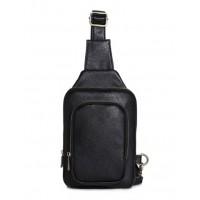 Man Elegant Leather Thin Version Chest Pouch Bag Sling Bag MC009 RC1
