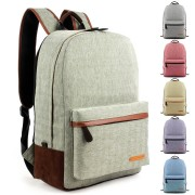 Unisex Casual Simple Design Durable Canvas Backpack / College Student School Bag B007 YH1