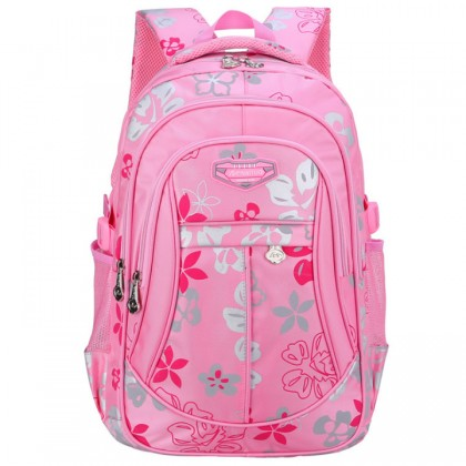 MC062 -Flower Blossom Cute School Backpack / Student's Light Weight Bag