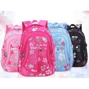 MC062 -Flower Blossom Cute School Backpack / Student's Light Weight Bag E1