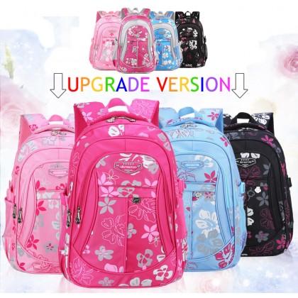 MC062 -Flower Blossom Cute School Backpack / Student's Light Weight Bag LA3