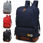 Unisex Simple & Cool Design Nylon Laptop College School Backpack FK1 MT6085 (Free Gift)