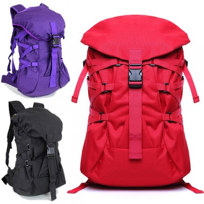 Unisex Polyester Stylish Travel Backpack College High School Bag W04 RH6