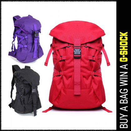 W04 Unisex Polyester Stylish Travel Backpack College High School Bag  - LC5