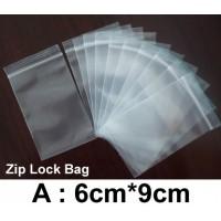 (Size: A) Zip Lock Bag : 6cm*9cm (100pcs) /Resealable Plastic Bags