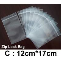 (Size: C) Zip Lock Bag : 12cm*17cm (100pcs) /Resealable Plastic Bags