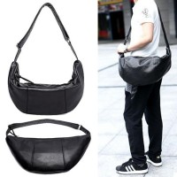 Man Charcoal Black Banana Bag Chest Pouch / Sling Bag RC1 6038