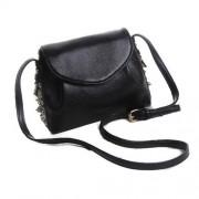 MC092(Black) - Women's Casual Bag / Premium Sling Bag / Saffiano Leather Bag